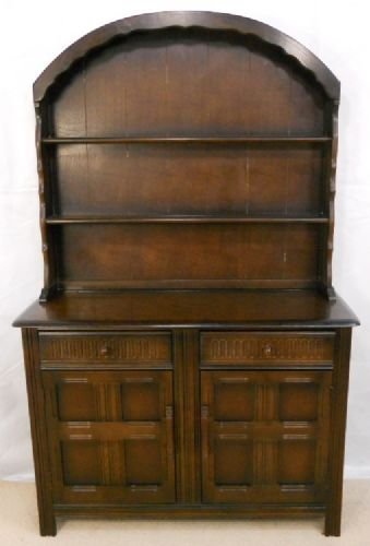 Dark Elm Dome Top Welsh Dresser
